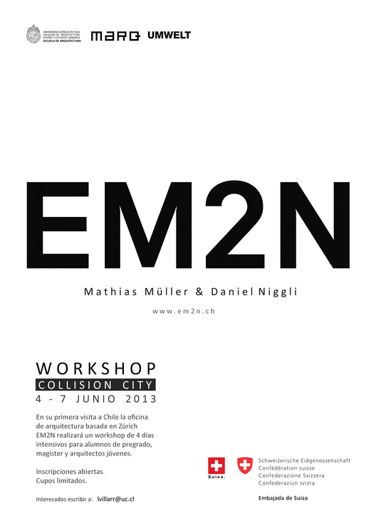 "EM2N liderará Workshop ""Collision City"" en su primera visita a Chile, Courtesy of MARQ"