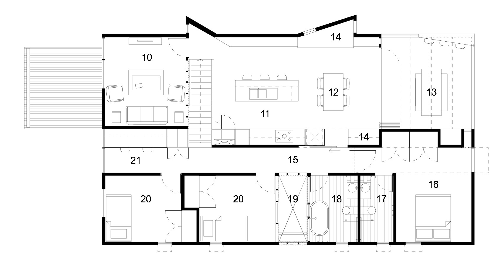 Suburban Beach House,Floor Plan Nice Ideas