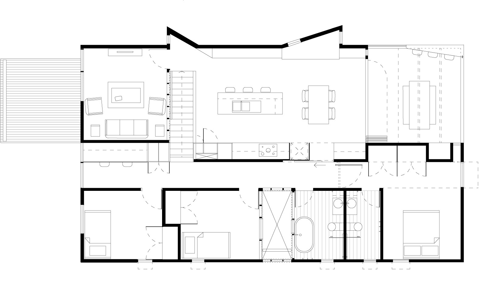 Stunning suburban house floor plan photos best for Suburban house plans