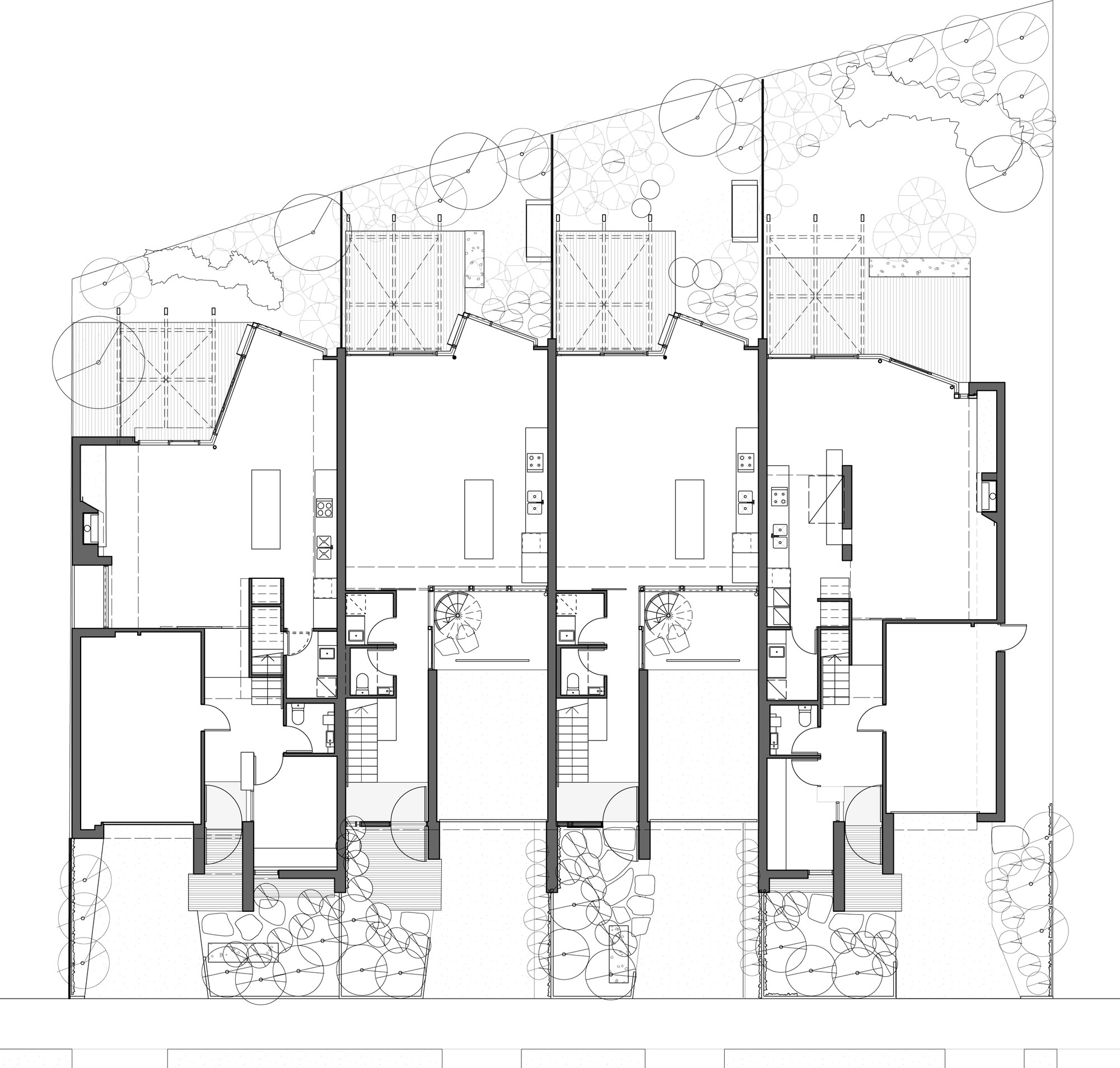 Gallery of elwood townhouses mcallister alcock for Large townhouse floor plans