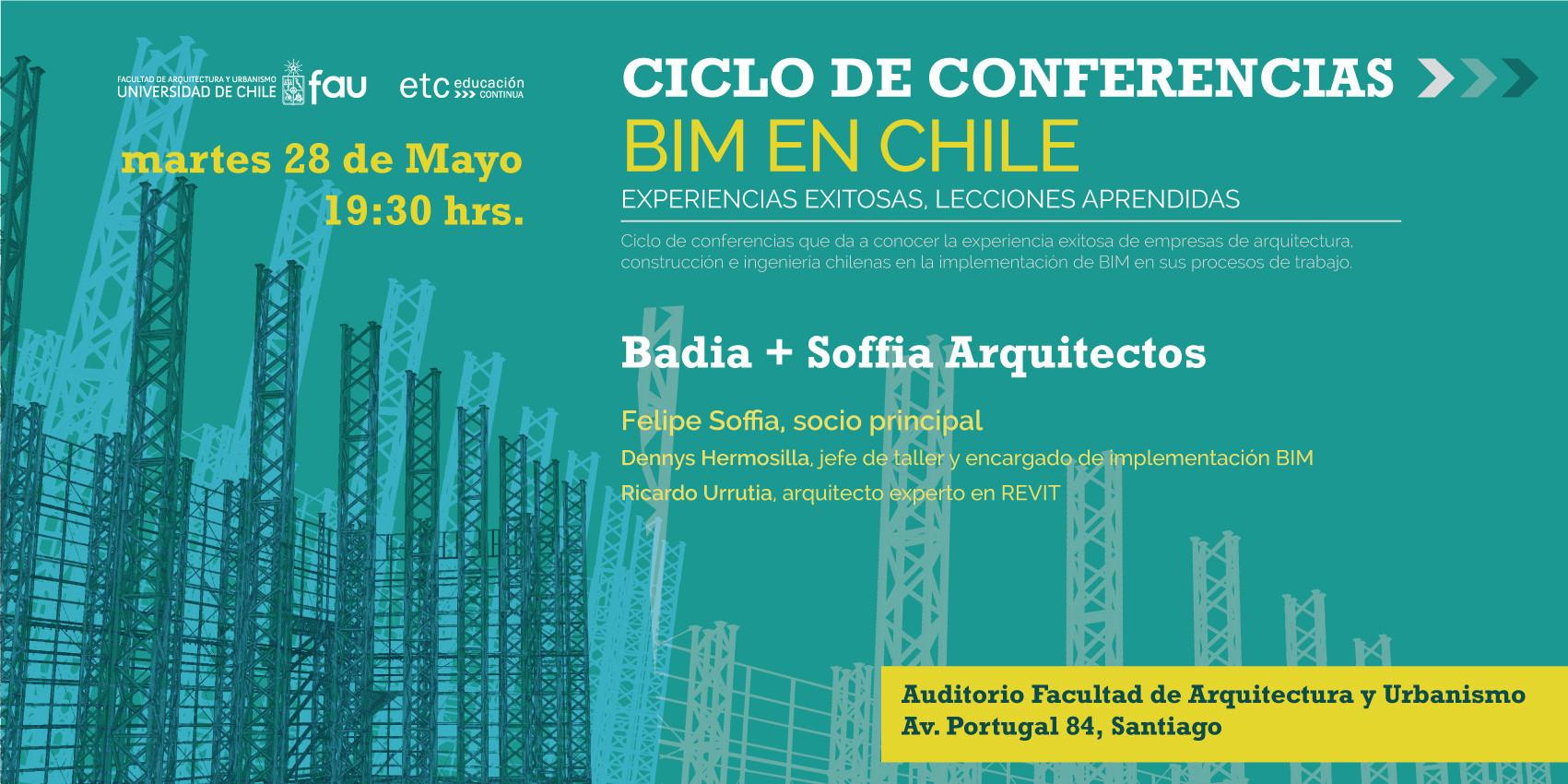 """Ciclo de Conferencias """"BIM en Chile: Experiencias exitosas, Lecciones aprendidas"""""""