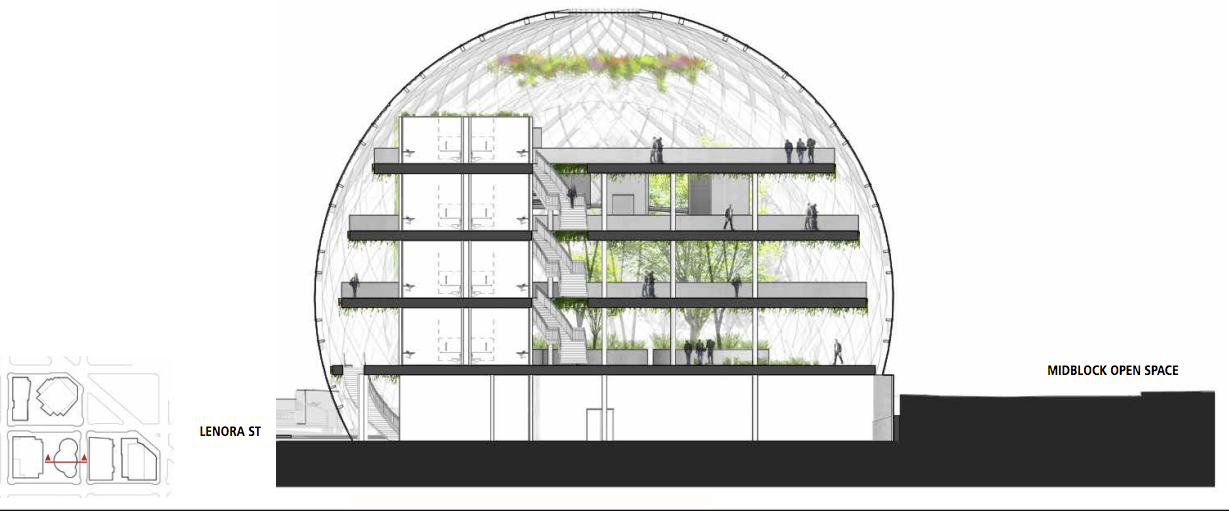 Gallery Of Nbbj Proposes Five Story Biodome For Amazon S