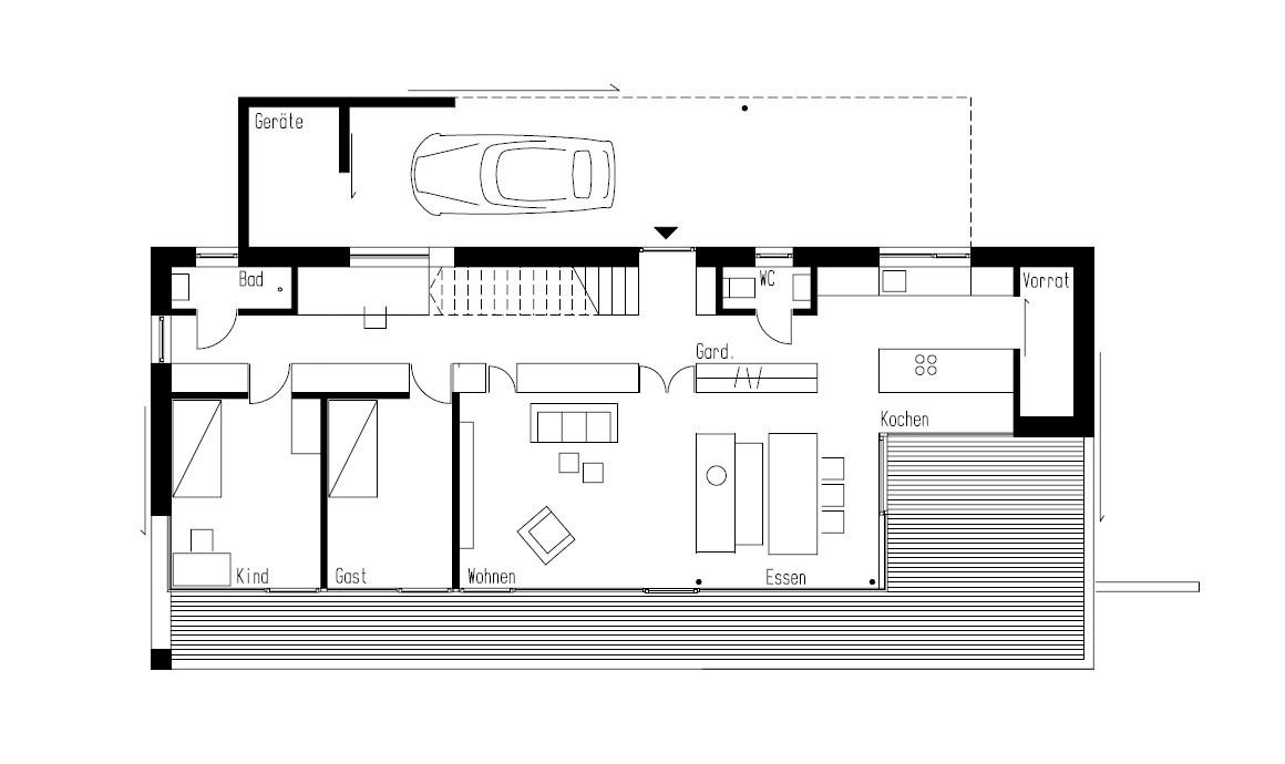 gallery of house weinfelden k m architektur 21. Black Bedroom Furniture Sets. Home Design Ideas