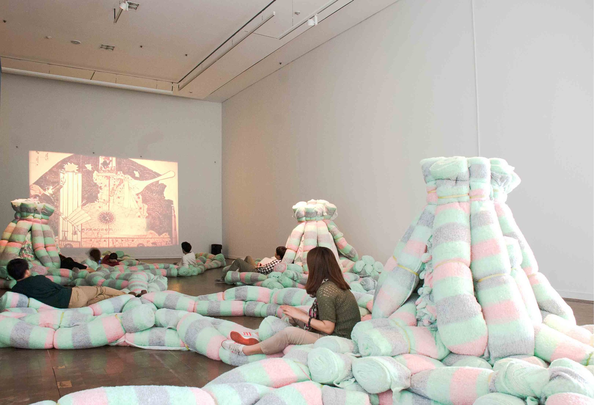 'Plushscape' Installation at Interspace Dialogue Exhibition / ALLTHATISSOLID
