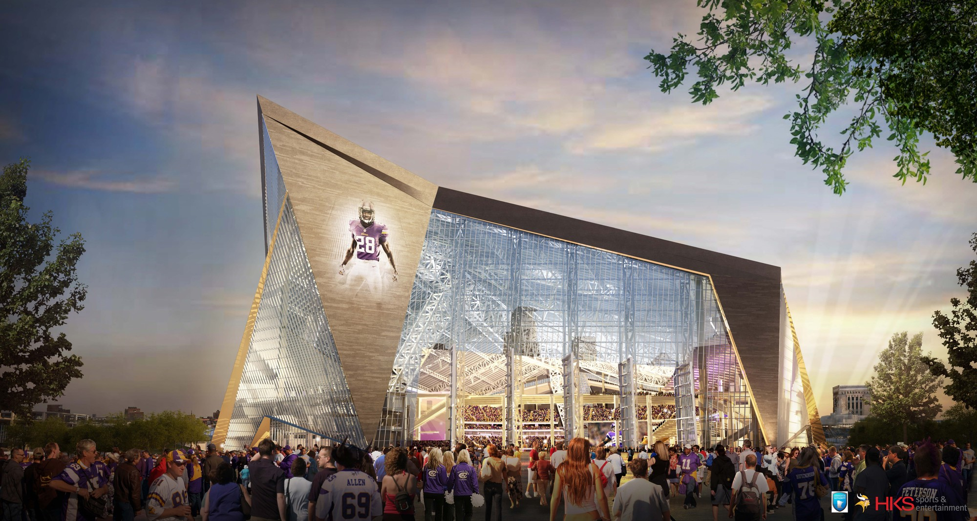 HKS Unveils New $975 Million Minneapolis Stadium / HKS, Courtesy of HKS