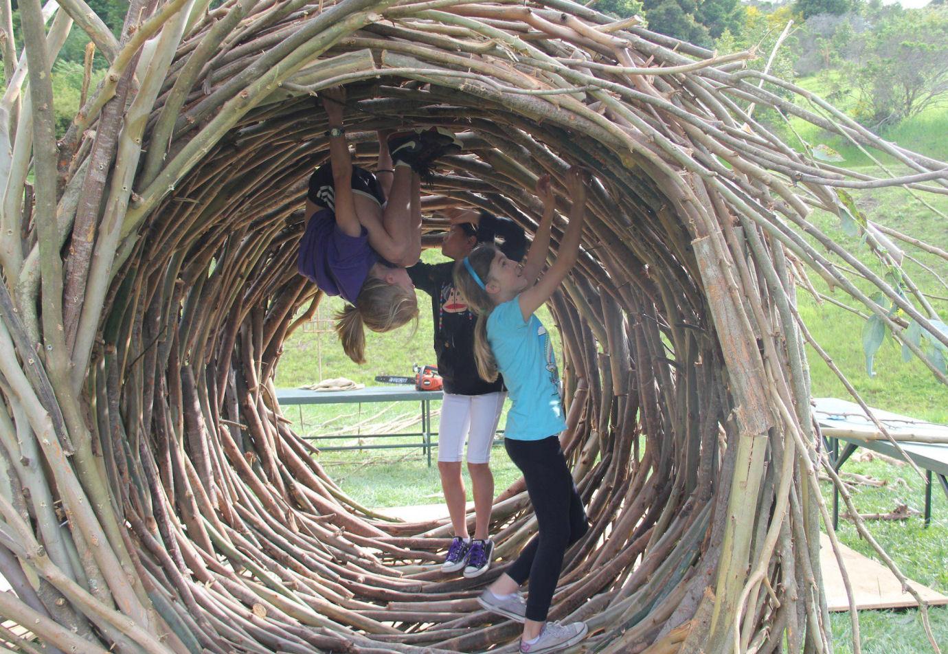 Los increíbles nidos a gran escala de Jayson Fann: inspirados por las aves, construidos para los humanos