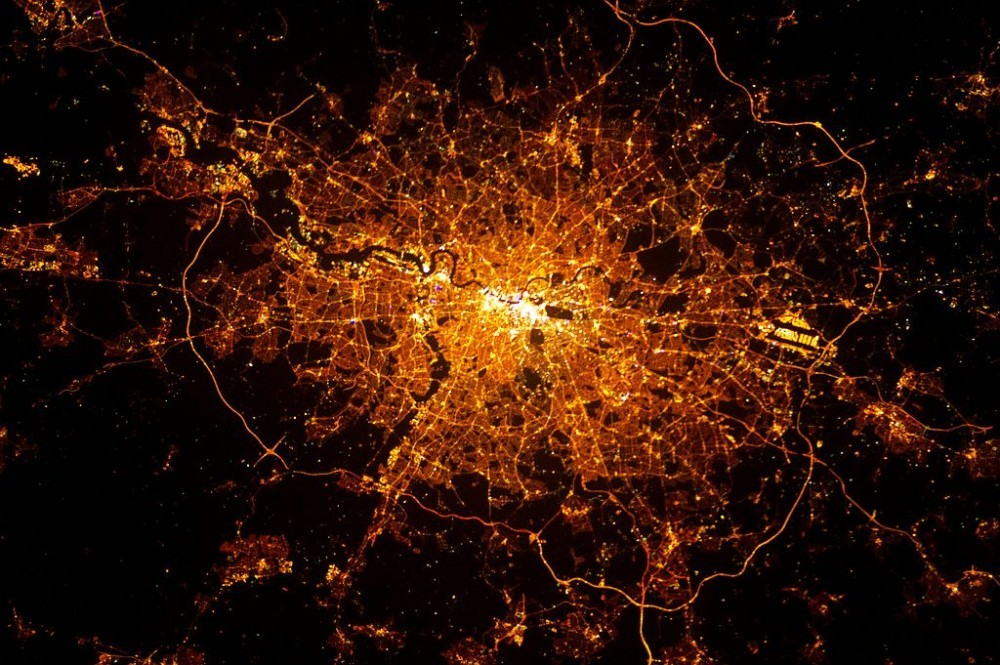 20 imágenes satelitales de ciudades tomadas por la NASA, Londres, Inglaterra