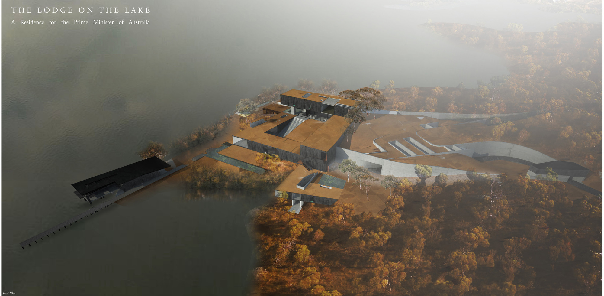 The Lodge on the Lake Winning Proposal / Henry Stephens, Nick Roberts, Jack Davies, Courtesy of Henry Stephens, Nick Roberts, and Jack Davies