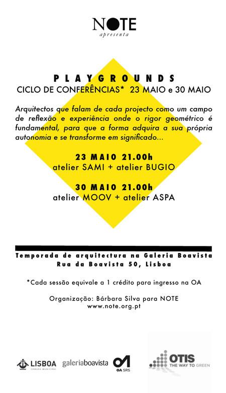 Playground Ciclo de Conferências: atelier ASPA + atelier MOOV