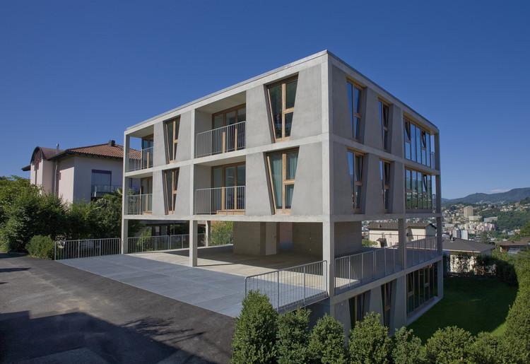 Edifício de Apartamentos em Pregassona / Martino Pedrozzi, © Pino Brioschi