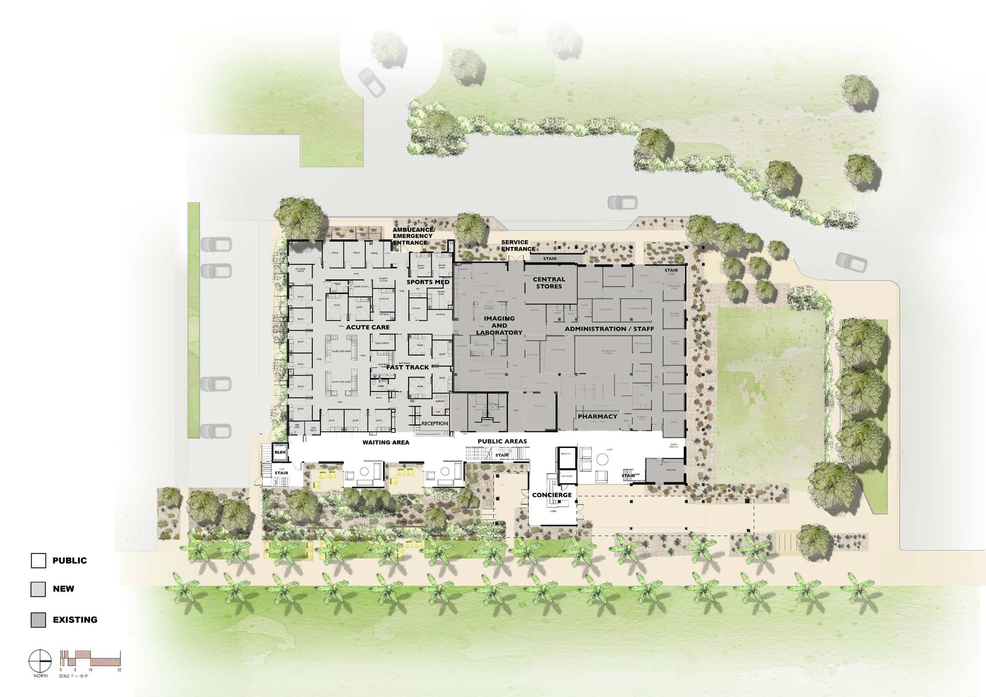 Gallery of asu health services building lake flato for Floor plan services