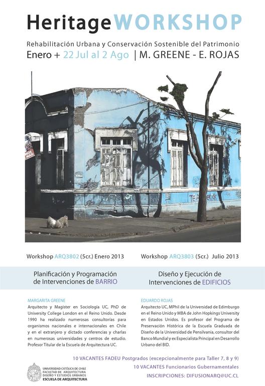 Workshop: Diseño y Ejecución de Intervenciones Urbanas y Arquitectónicas, Courtesy of FADEU