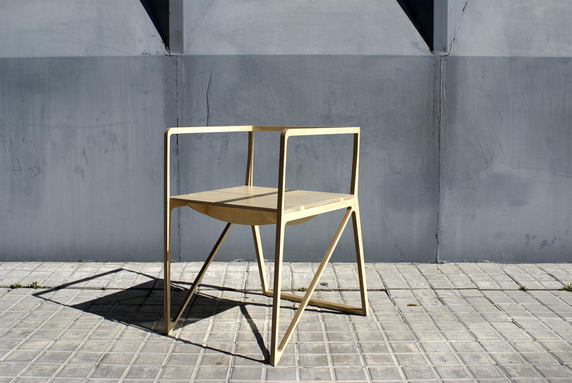 Galer a de silla brace ignacio hornillos design studio 2 for Studio design sillas