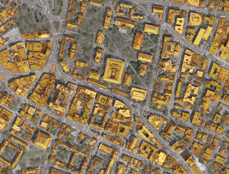 The Mapdwell Project: determinando a energia solar ideal nas coberturas, Imagem da Plataforma Solar System Mapdwell