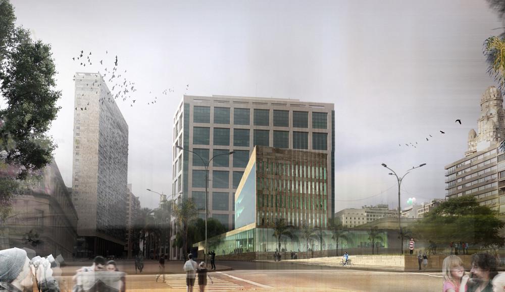 Primera Mención Concurso Edificio Anexo a la Torre Ejecutiva - Te + A, Courtesy of MBAD Arquitectos