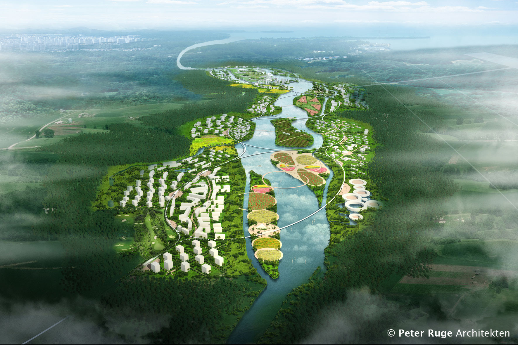 Green health city proposal peter ruge architekten - Peter ruge architekten ...
