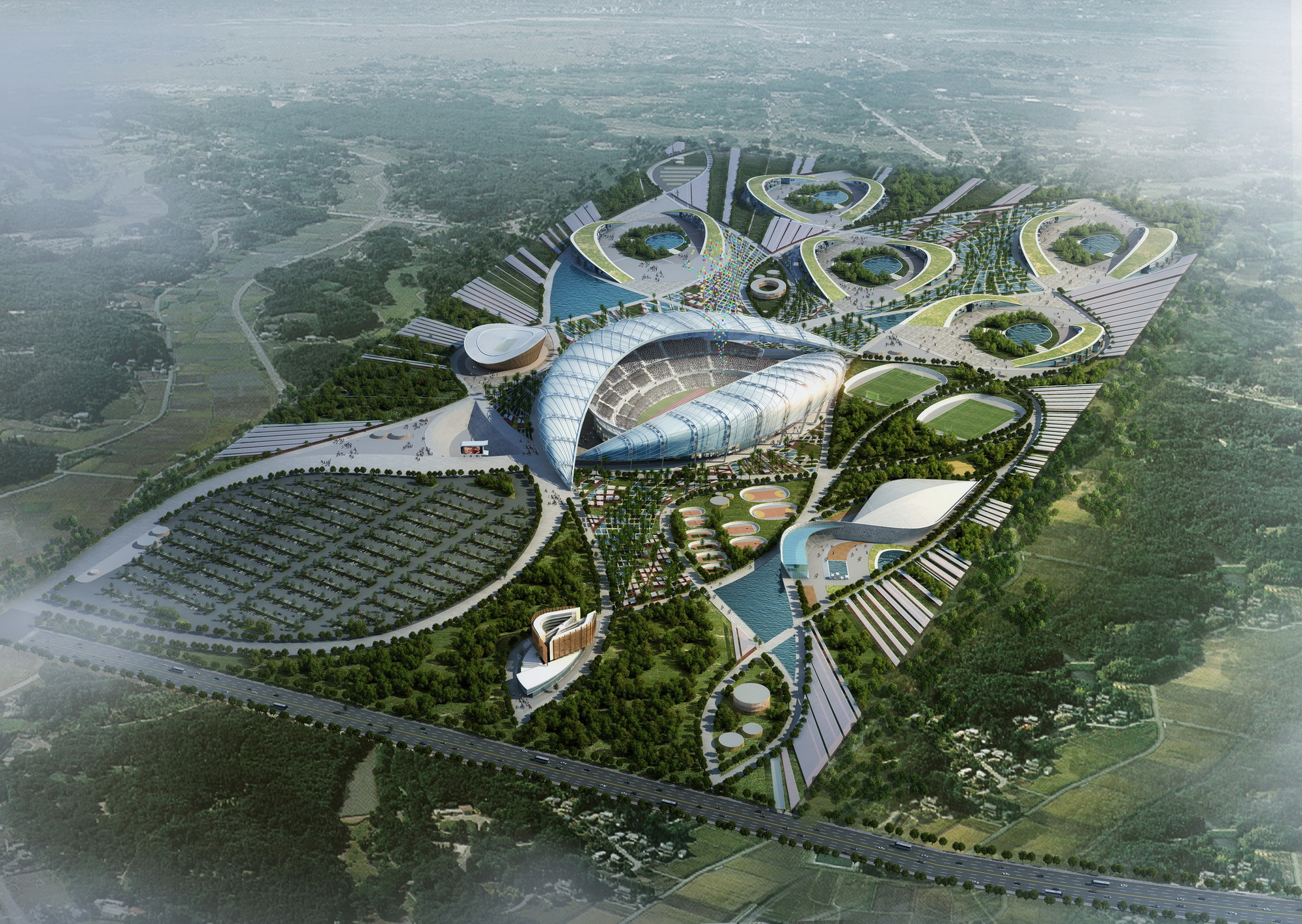 Pan African Games Masterplan Competition Entry / Group IAD