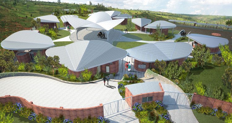 Centro de Oportunidade para Mulheres em Ruanda / Sharon Davis Design, The Women's Opportunity Center © Sharon Davis Design