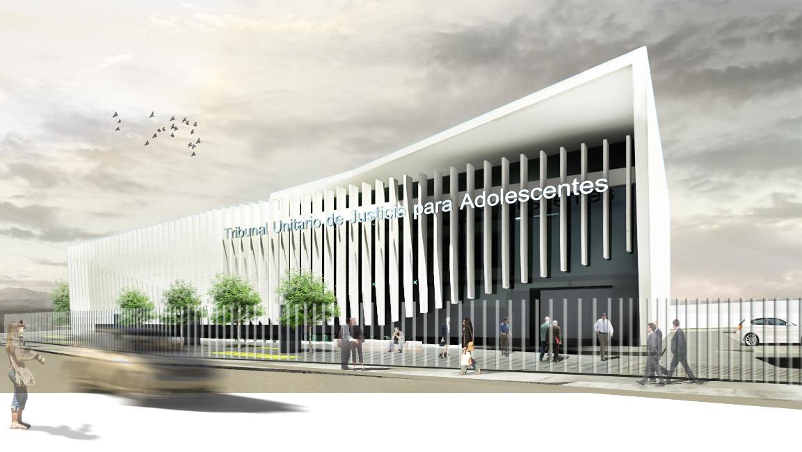 Tribunal Unitario de Justicia para Adolescentes del Estado de Morelos / Dionne Arquitectos + Adaptable arquitectura y diseño, © Hugo García - Dionne Arquitectos