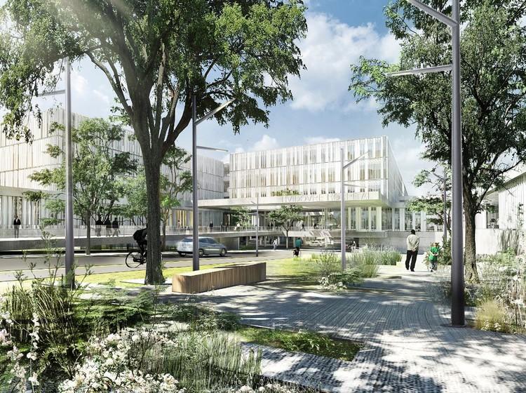 New Hospital Hvidovre Extension Winning Proposal / Schmidt Hammer Lassen Architects + Aarhus Arkitekterne, Courtesy of schmidt hammer lassen architects and aarhus arkitekterne