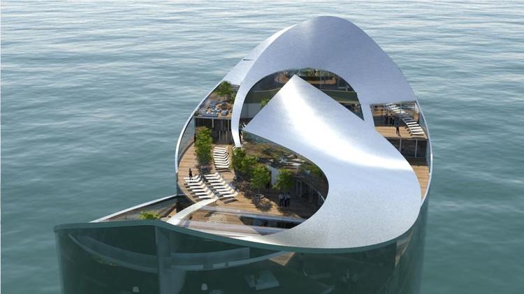 Copa do Mundo 2022: Qatar acomodará fãs do futebol em hotéis flutuantes, Hotel Flutuante / Sigge Architects