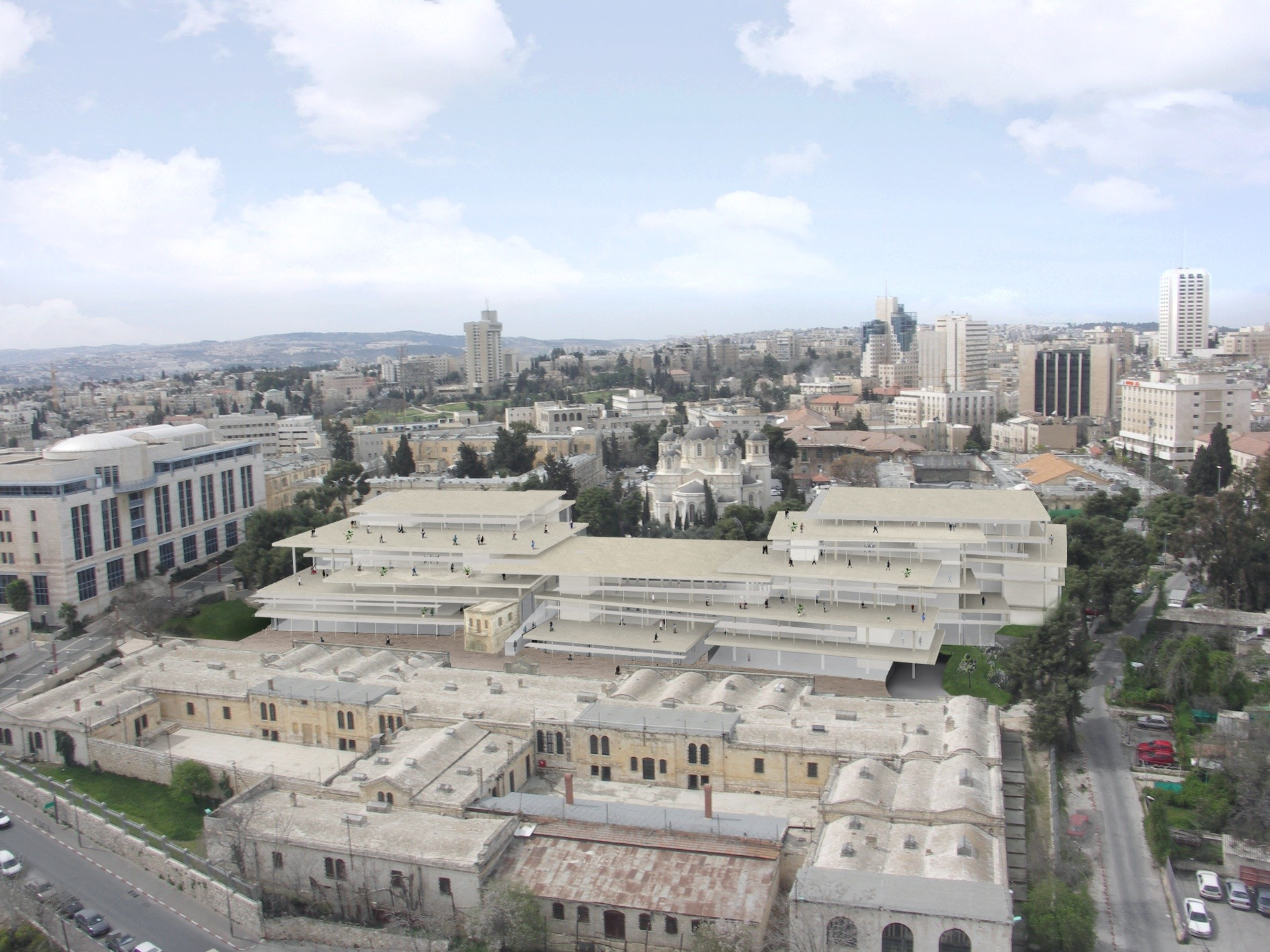 SANAA Unveils Plans for New Downtown Arts & Design Campus in Jerusalem, © SANAA