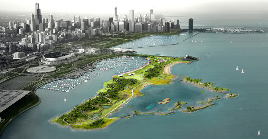 2013 Great Places Award Winners Announced, Northerly Island /  Studio Gang Architects + SmithGroupJJR