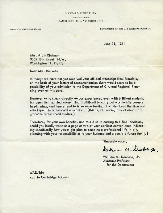 harvard rejection letter 52 years later a would be planner responds to 1277