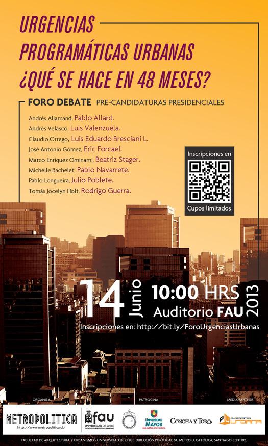 Foro FAU:  Debate Urgencias Programáticas Urbanas