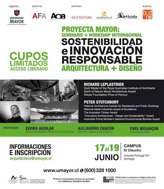 Seminario + Workshop internacional: Sostenibilidad e innovación responsable / Universidad Mayor, Courtesy of Universidad Mayor