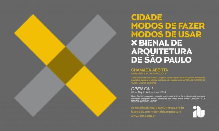 Faltam 2 dias para o envio de trabalhos para a X Bienal de Arquitetura de São Paulo, via IAB-SP