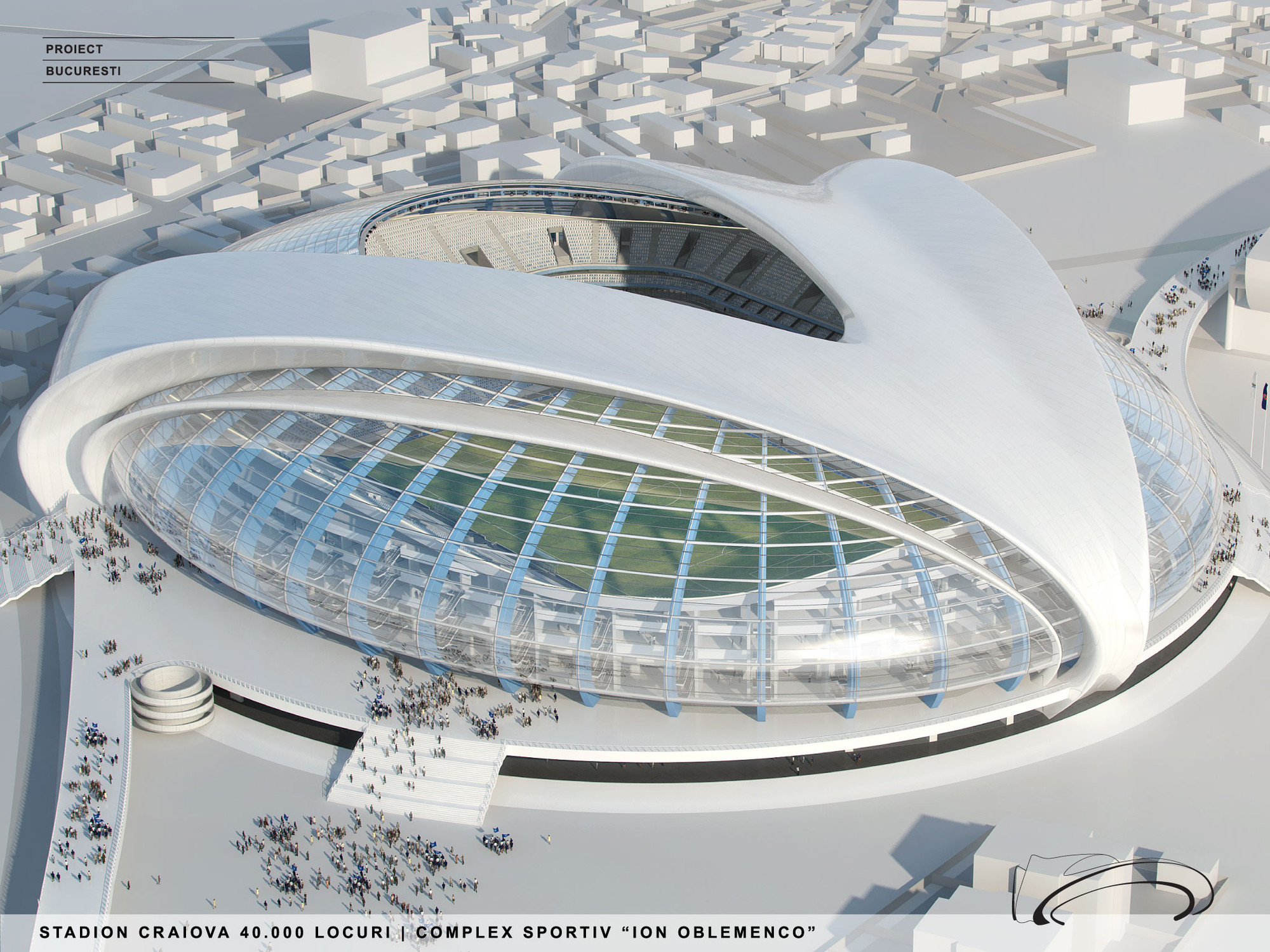 Craiova Football Stadium Proposal Proiect Bucuresti Archdaily