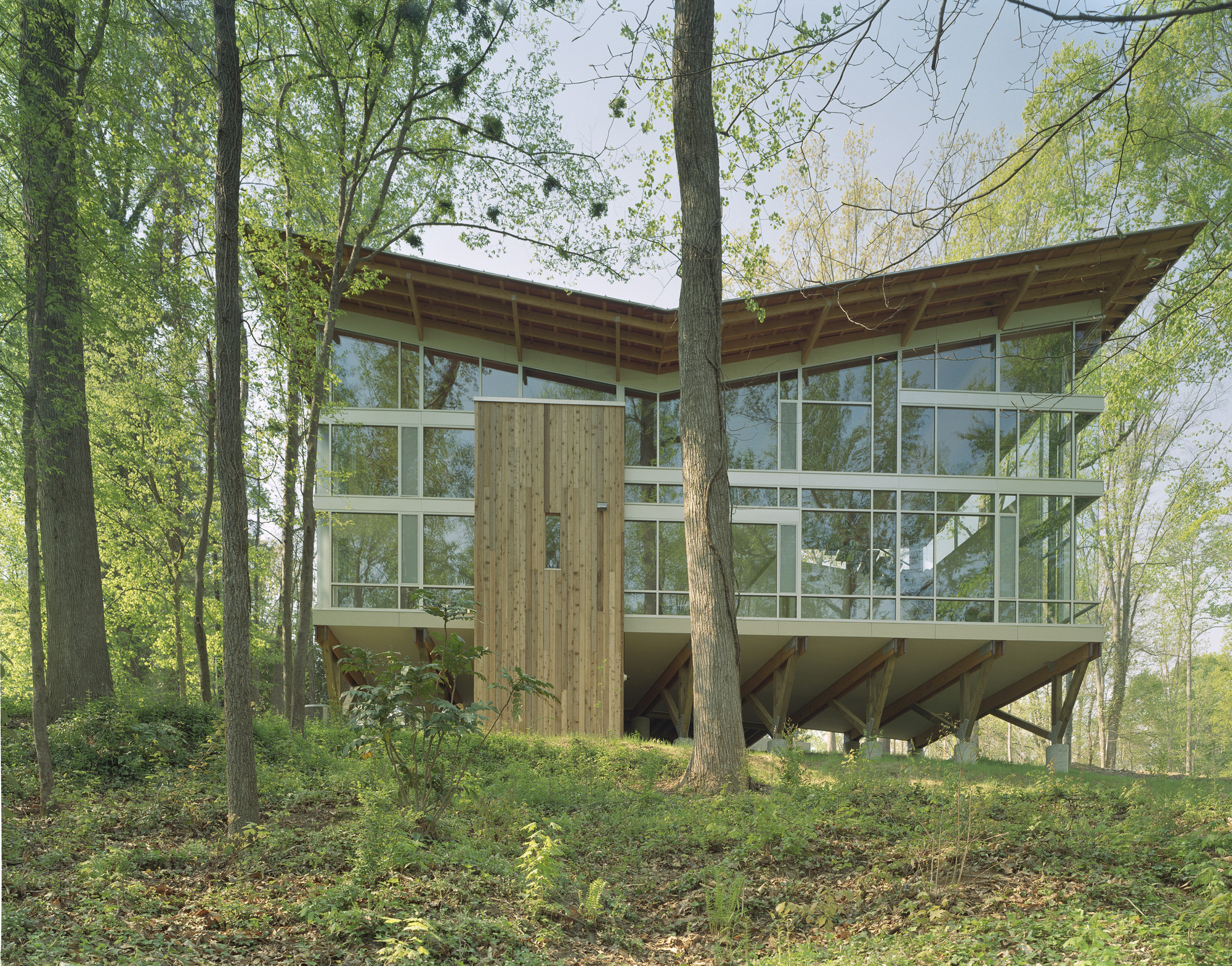 Strickland-Ferris Residence / Frank Harmon Architect, © Tim Hursley
