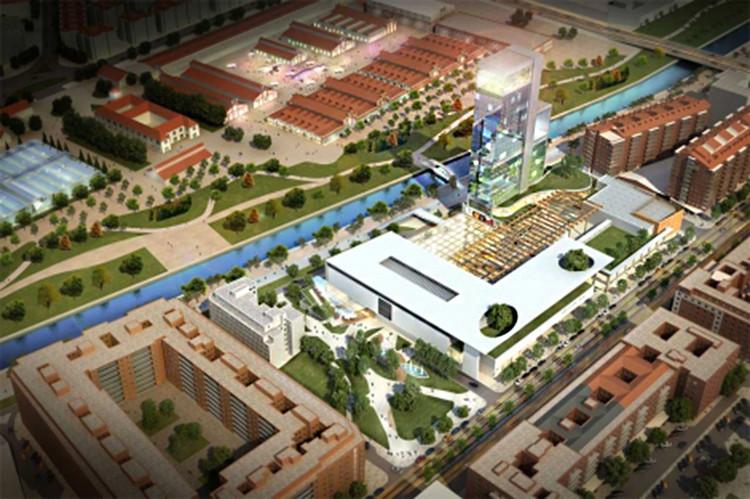 Aprobado un Plan Especial para levantar junto a Madrid Río una torre de 27 plantas, Cortesía de El Mundo