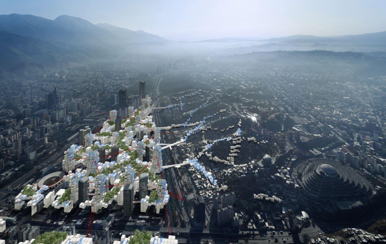 Torre David - Informal Vertical Communities Exhibition, © Chair Brillembourg & Klumpner, ETH Zurich + Iwan Baan
