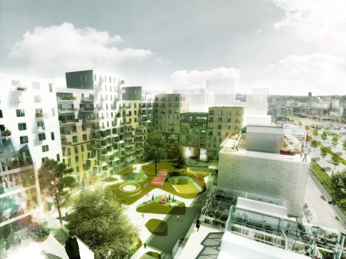 Gallery of 39 canal houses aarhus harbour housing project for Houses projects
