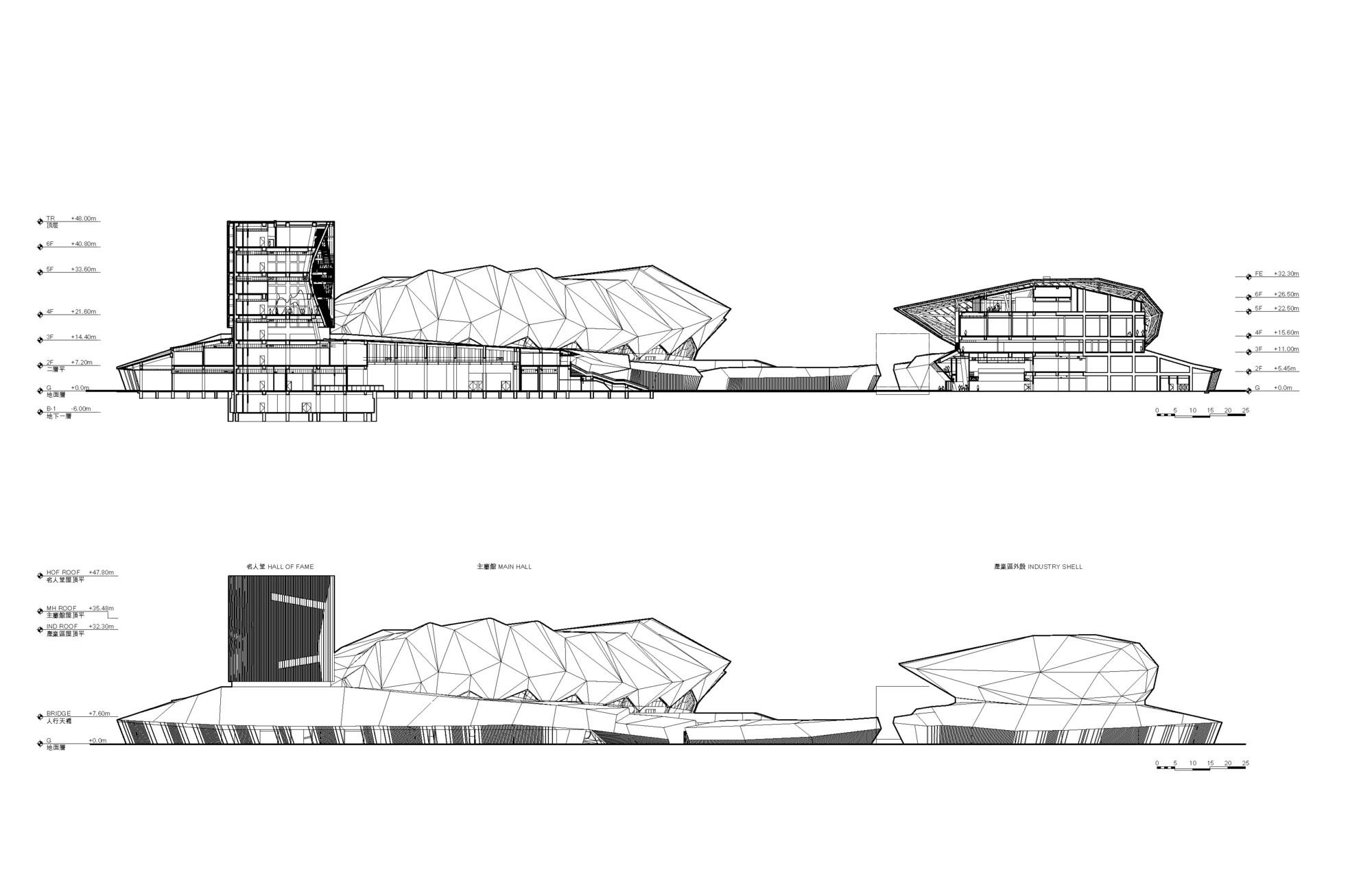 Ping Complex Plan Elevation Section : Gallery of reiser umemoto s taipei pop music center