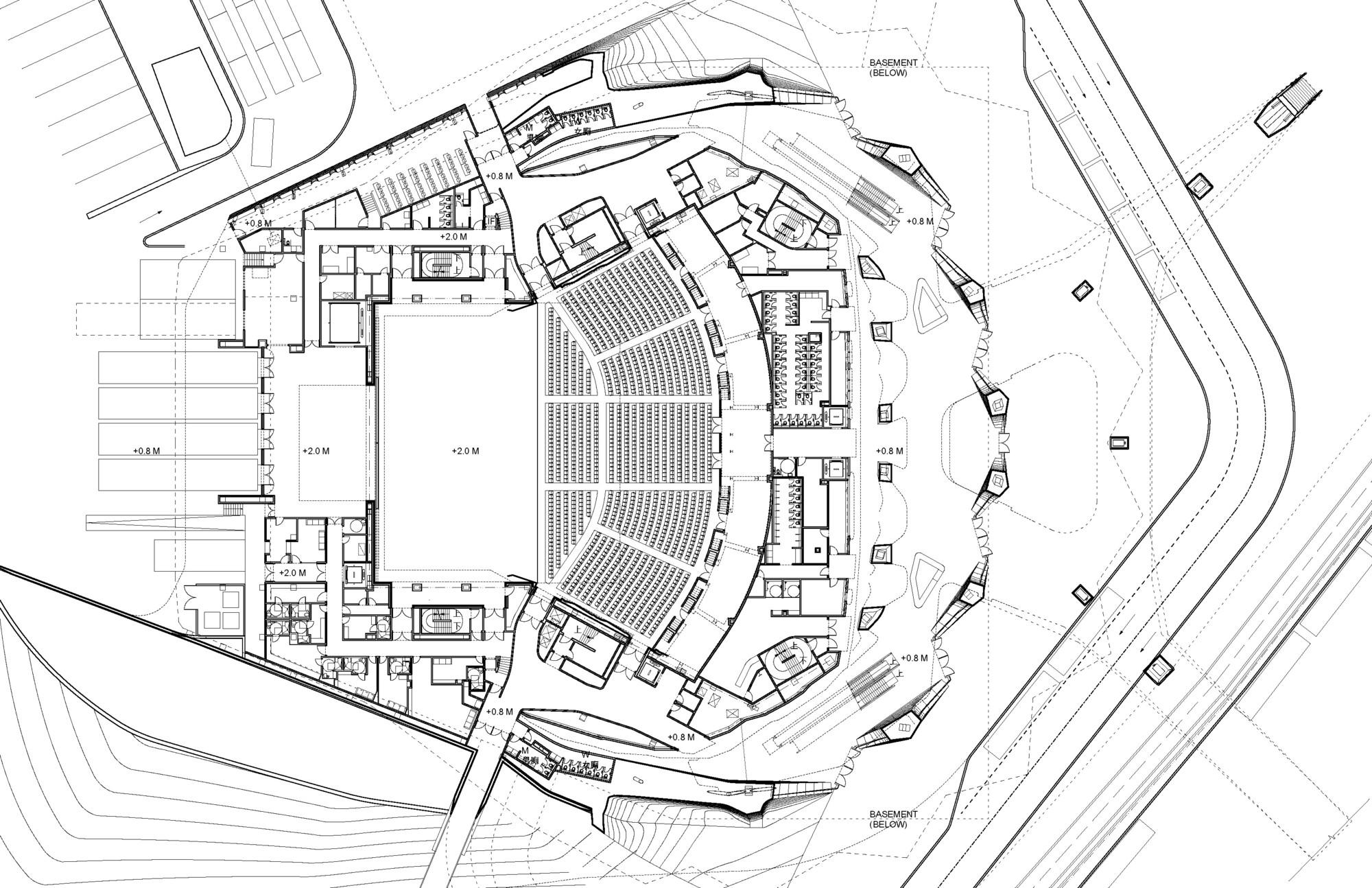 Fancy Main Hall F Plan