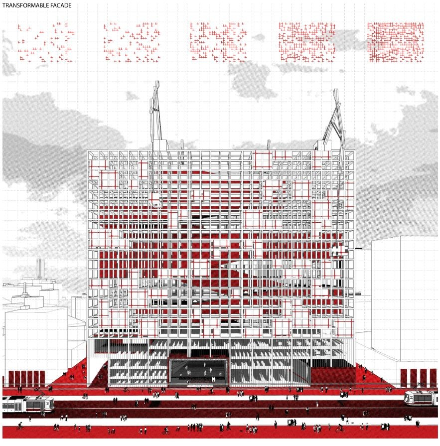 'Redesigning Detroit: A New Vision for an Iconic Site' Competition Entry / H Architecture, Courtesy of H Architecture