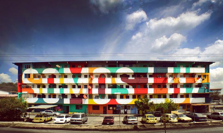 """""""Somos Luz"""" - Arte urbana criada por moradores de uma comunidade no Panamá, Cortesia de hypeness"""