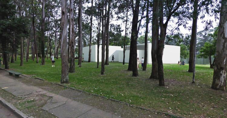 Álvaro Siza e Eduardo Souto de Moura criam pavilhão temporário no Parque do Ibirapuera, Imagem Exterior