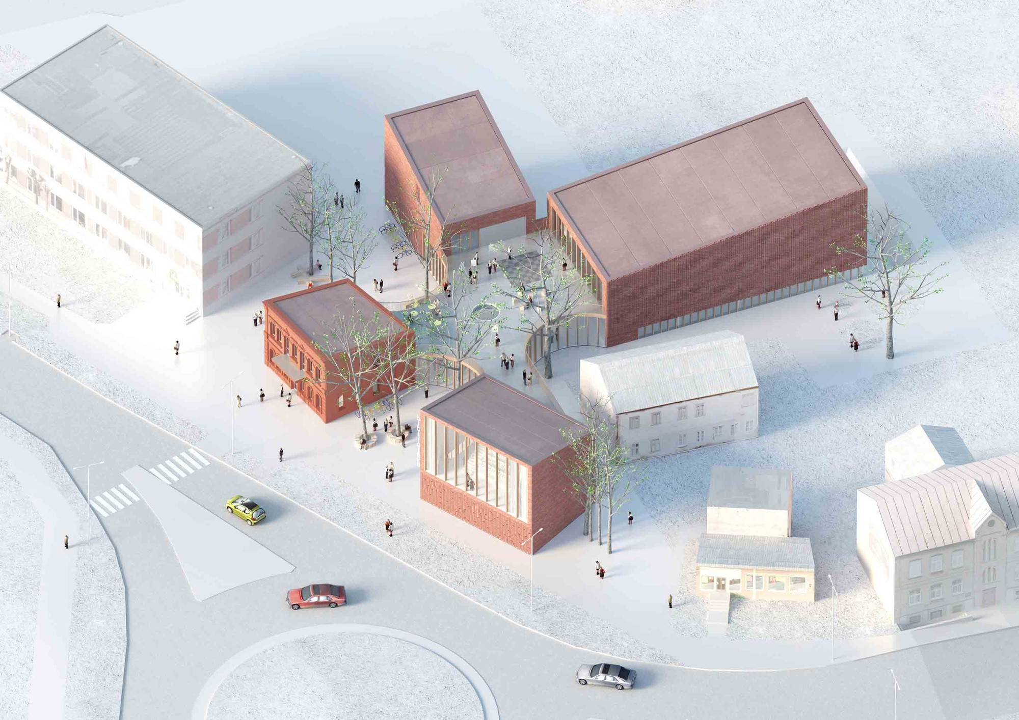 Library building in bauska winning proposal a2sm architects archdaily - Architecturen volumes ...