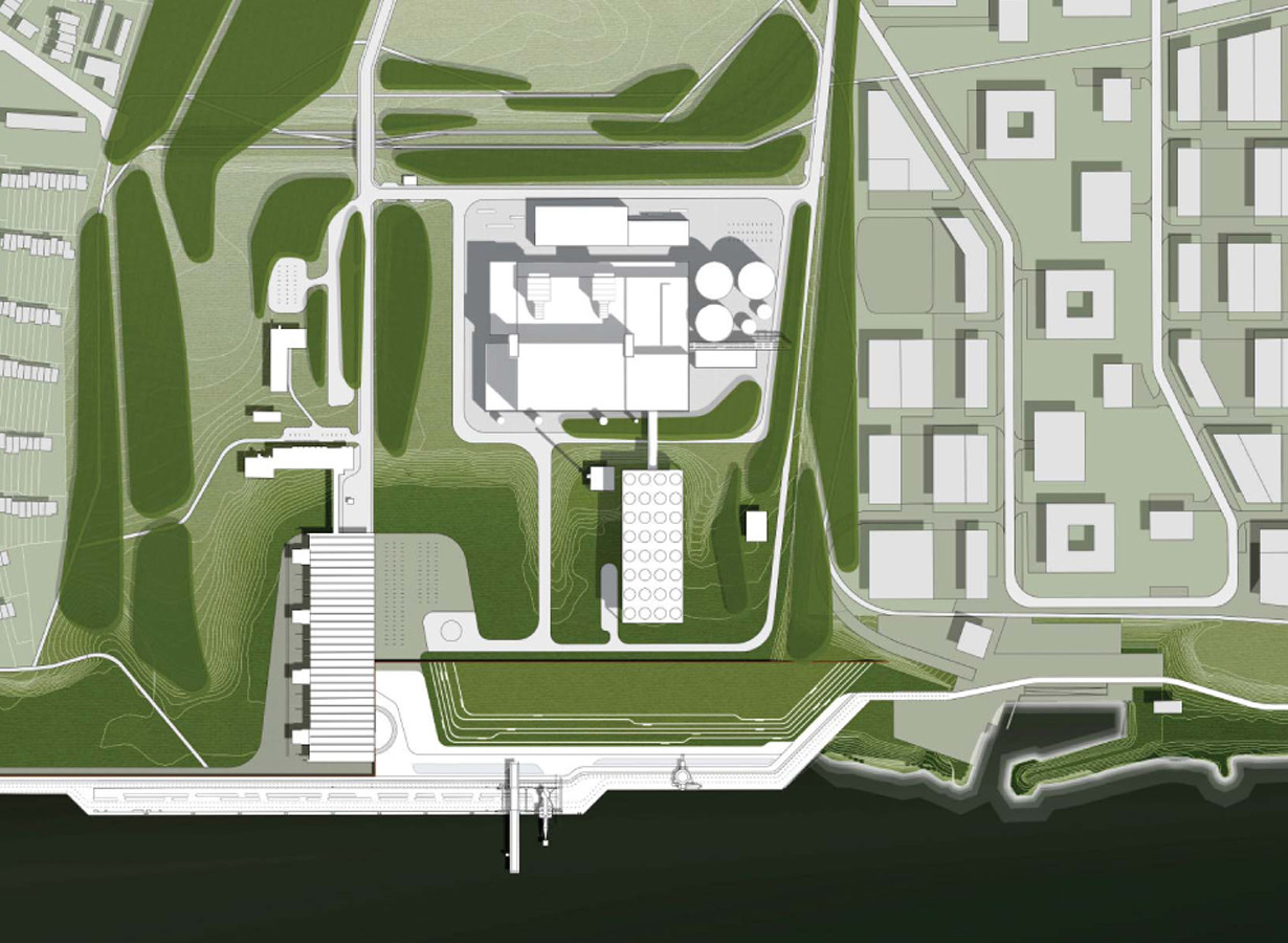 Gas And Steam Power Plant Winning Proposal Henn Archdaily Geothermal Layout Diagram Site Plan