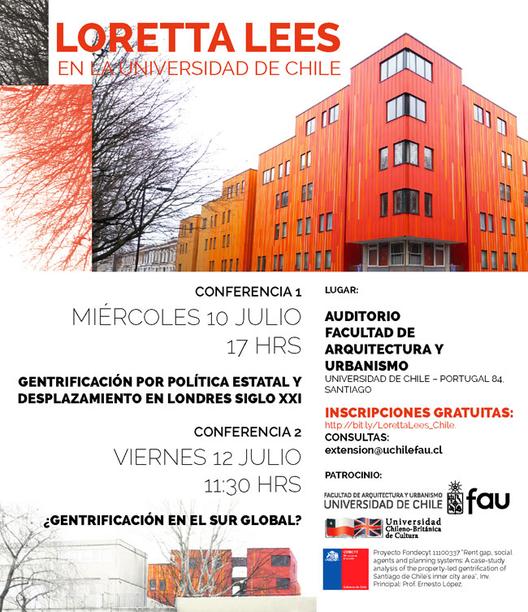 Conferencias Loretta Lees: Gentrificación por Política Estatal - ¿Gentrificación en el Sur Global?