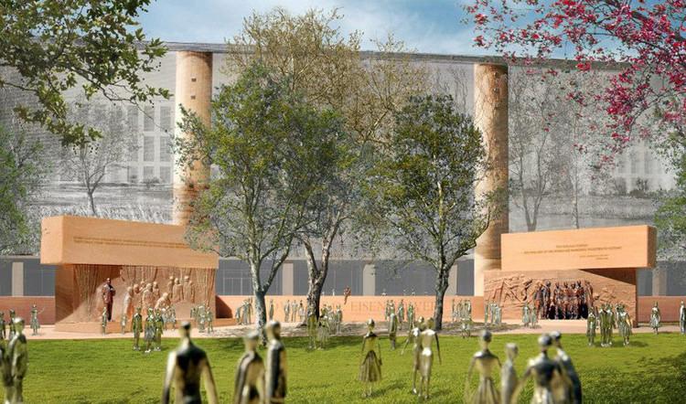 Proposta controversa de Gehry para o Memorial Eisenhower  é aprovada, Cortesia de Gehry Partners, LLP, 2013
