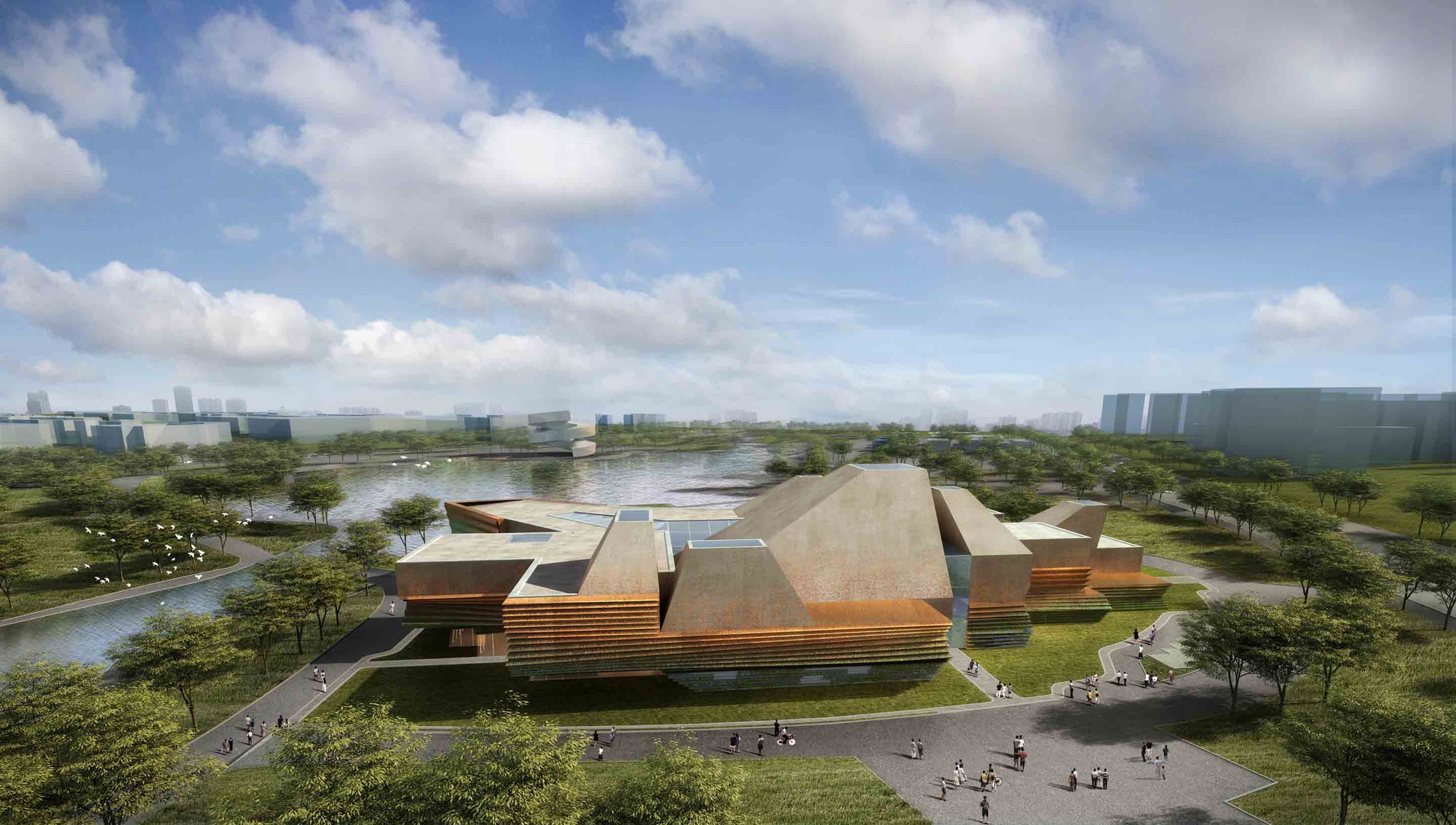 Tonglin City Planning Exhibition Center Winning Proposal / Waa, Courtesy of Waa