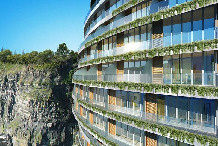 Comienza la construcción de Songjiang Hotel: un Eco-Resort ubicado en una cantera de 100 metros de profundidad