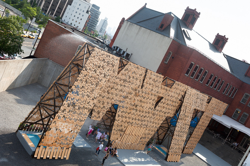 CODA's Skateboard Scrap 'Party Wall' Kickstarts MoMA's Summer Music Series , © Zachary Tyler Newton