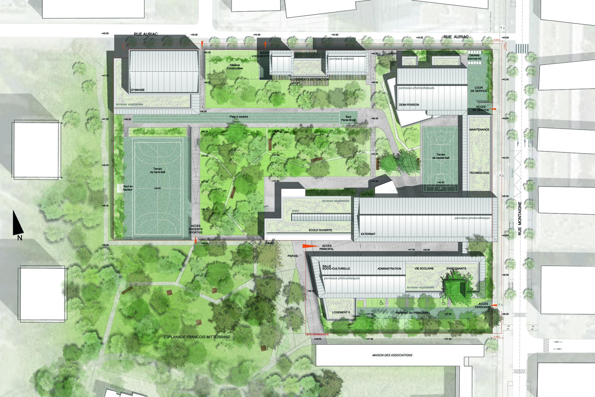 Michel de Montaigne Middle School in Lormont / art'ur architectes