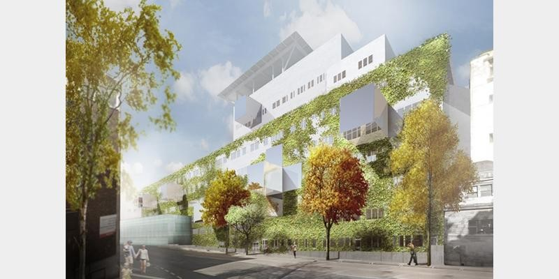 Bristol Hospital Competition Finalists, 'Vertical Garden' / Courtesy of Tham & Videgård